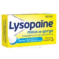 LysopaÏne Comprimés à Sucer Maux De Gorge Sans Sucre 2t/18 à LYON