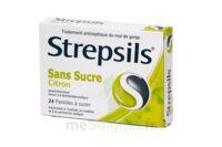 Strepsils Citron Sans Sucre, Pastille édulcorée à L'isomalt, Au Maltitol Et à La Saccharine Sodique à LYON