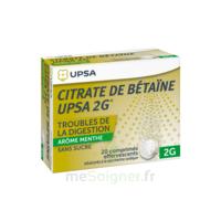 Citrate De Bétaïne Upsa 2 G Comprimés Effervescents Sans Sucre Menthe édulcoré à La Saccharine Sodique T/20 à LYON
