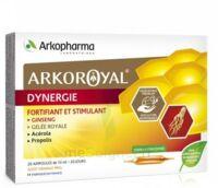 Arkoroyal Dynergie Ginseng Gelée Royale Propolis Solution Buvable 20 Ampoules/10ml à LYON