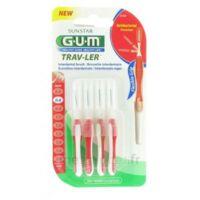 Gum Trav-ler 4 Brossettes Rouge Interdentaires 0.8mm à LYON