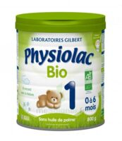 Physiolac Lait Bio 1er Age à LYON