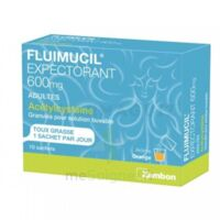 Fluimucil Expectorant Acetylcysteine 600 Mg Glé S Buv Adultes 10sach à LYON
