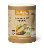 Nat&form Eco Responsable Curcuma + Pipérine Bio Gélules B/200 à LYON
