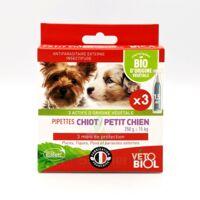 Vétobiolbio Pipettes Antiparasitaire Chiot Petit Chien B/3 à LYON